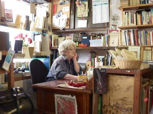 Secondhand bookstore in Trastevere