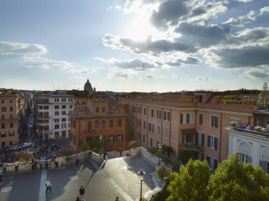 Piazza di Spagna, famous for its Spanish Steps
