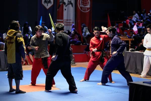 Full-on fight scenes