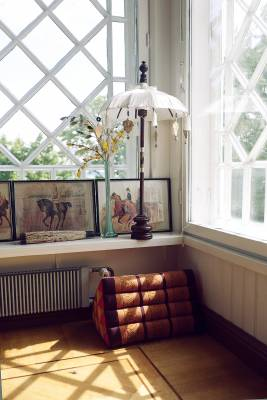 The conservatory of Petra Tandefelt, resident and owner of Suomenlinna's Toy Museum