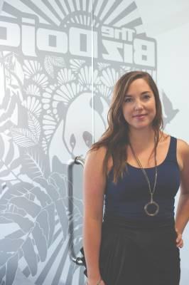 Katherine Field, community manager at BizDojo