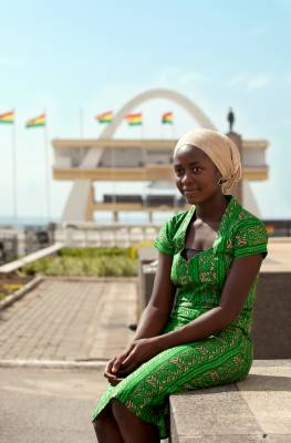 Ghanaian woman who works at Villa Monticello, a new boutique hotel