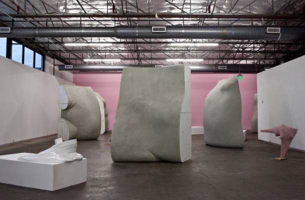Erwin Wurm's installation at Dallas Contemporary