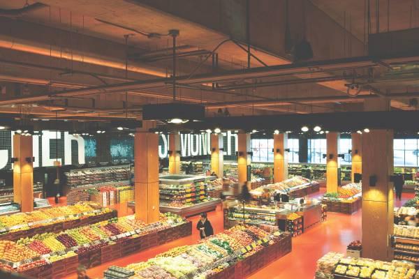 Interiors were designed by Australian firm Landini Associates