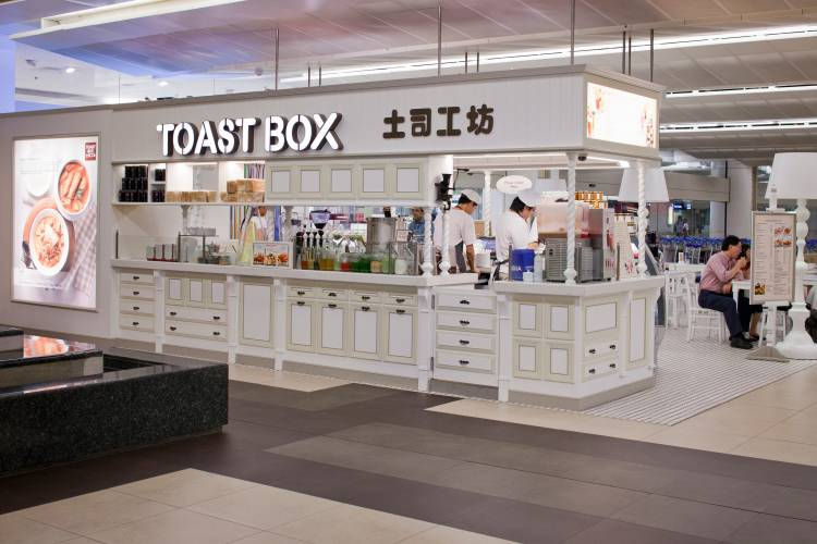 Toast Box outlet at Changi airport