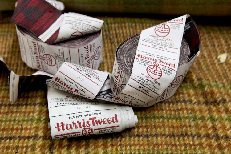 Every piece of Harris Tweed comes with a label and an ID number