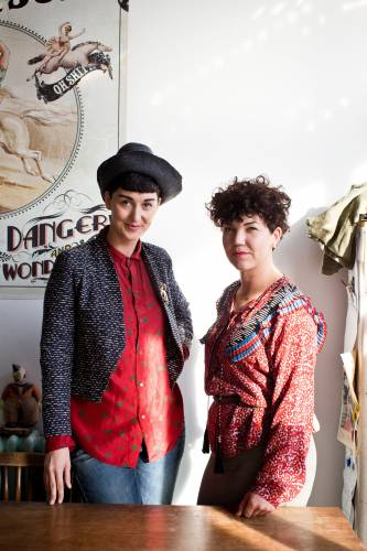 'The Future of Frances Watson' shop owners Kerry Butt (left) and Meg Watson Watson (right)