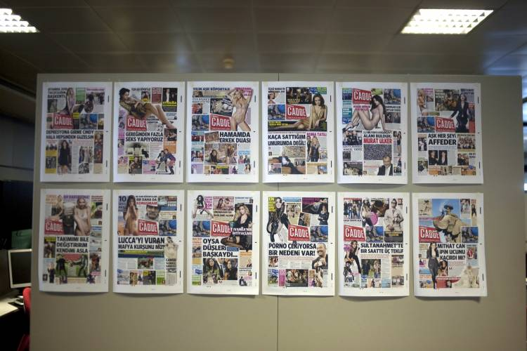 Front pages of a celebrity publication