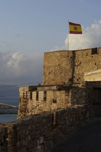 The fort in Melilla's old town overlooks the entire city