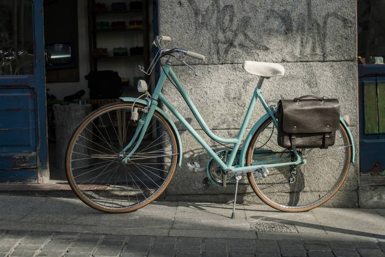 Recycled bike with bag