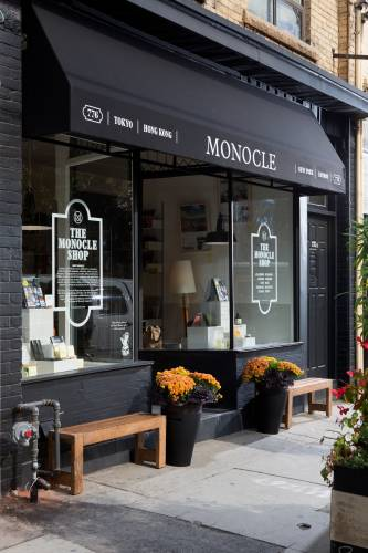 The store front of Monocle's new bureau