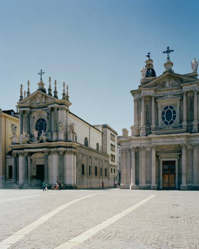 Twin churches of Santa Cristina and San Carlo Borromeo