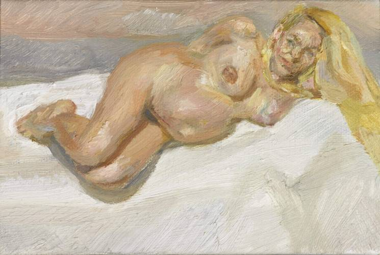 Lucian Freud's portrait of a heavily pregnant model.