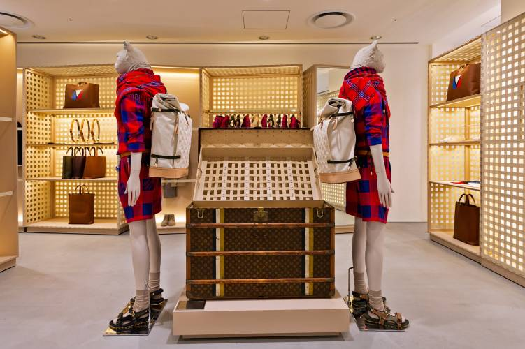 Louis Vuitton section on the third floor