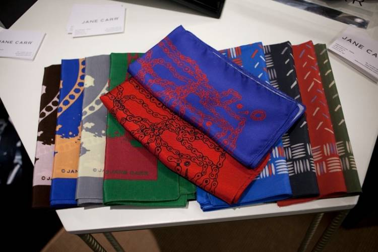 Jane Carr Homme's collection of scarves nod to James Dean