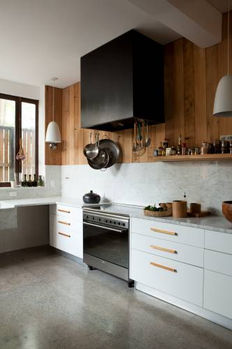 Wood-and-marble kitchen allows chef Trocca plenty of room to get creative