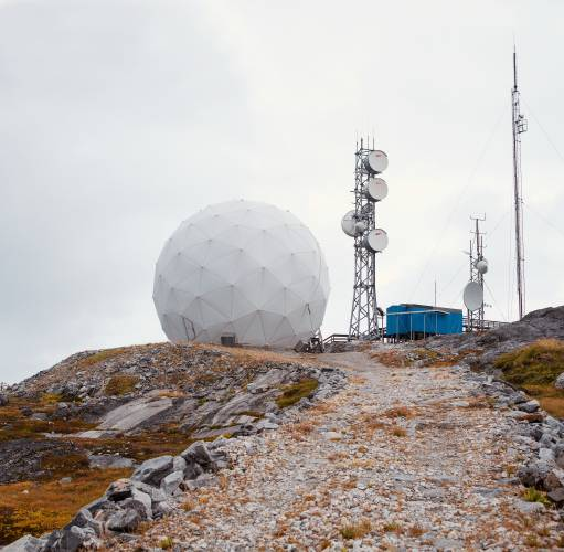 Telecommunications mast at Tele Greenland