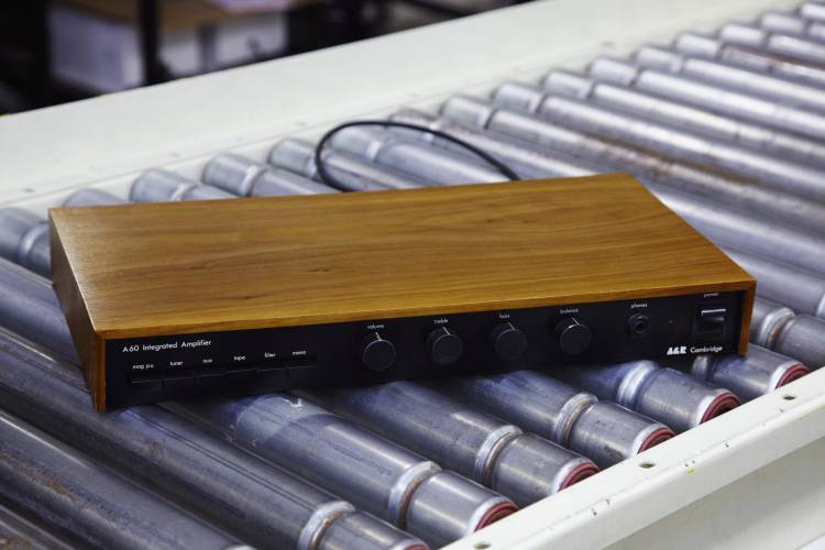 Arcam's first product the A60 amplifier