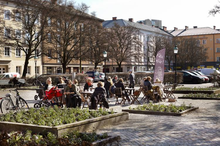 Davidshall Torg, a square in Malmö centre
