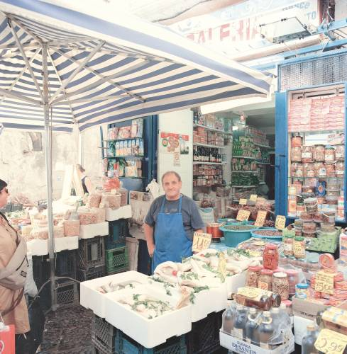 Stallholder at Antignano Market
