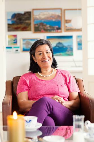 Aleqa Hammond at her home in Nuuk