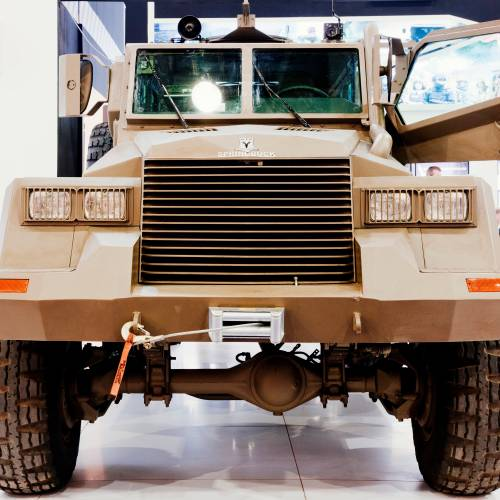 The South African Springbuck armoured vehicle