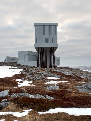 Fogo Island Inn, designed by Bergen-based architect Todd Saunders