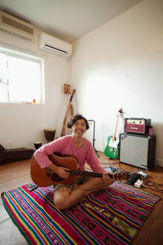 Yusuke Hashizume in his music room