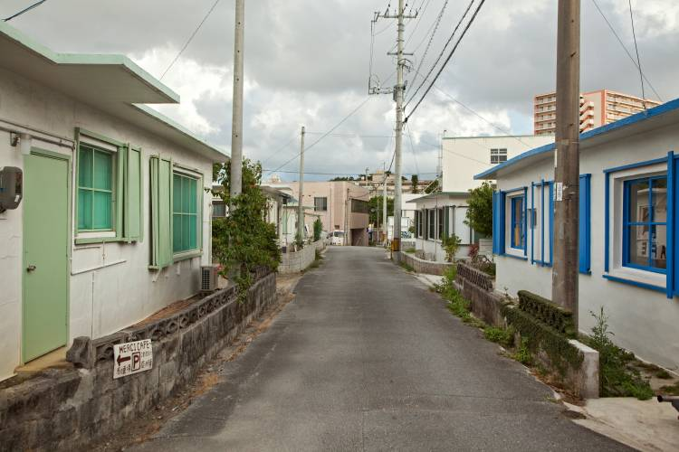 Street in the Minato-gawa area of Okinawa