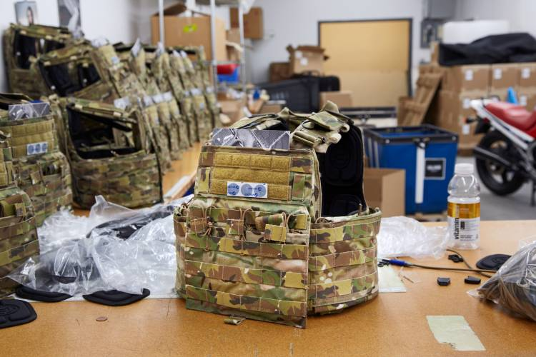 CAGE Armor Chassis armoured vest at final stage of production