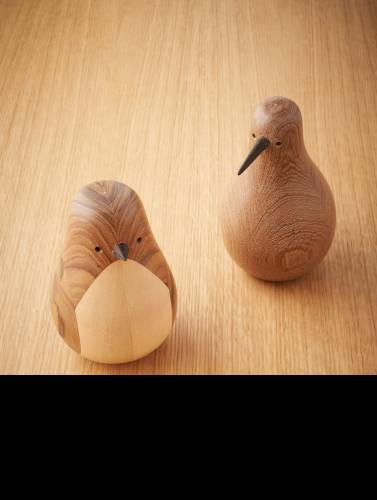 wooden house birds by Norwegian designer Lars Beller Fjetland