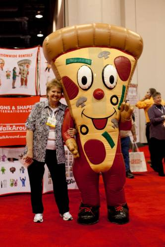 Delegate with expo mascot
