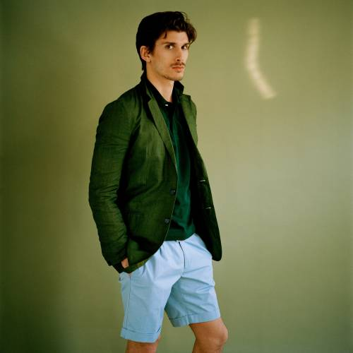 Jacket by Burberry Prorsum, polo shirt by Brooks Brothers, shorts by Incotex, belt by Paul Smith
