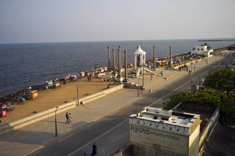 Pondicherry's vehicle-free promenade