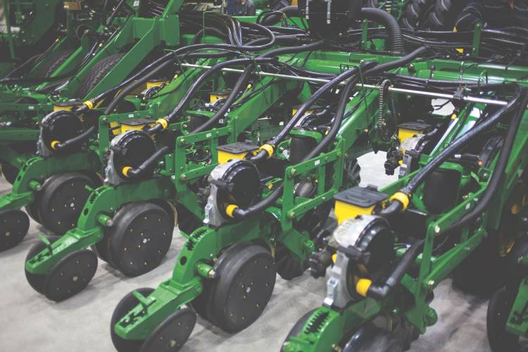 John Deere automatic seed planters