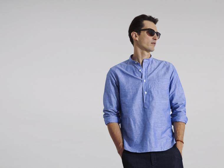 Stand Collar Shirts Designs : Monocle voyage stand collar shirt clothing shop