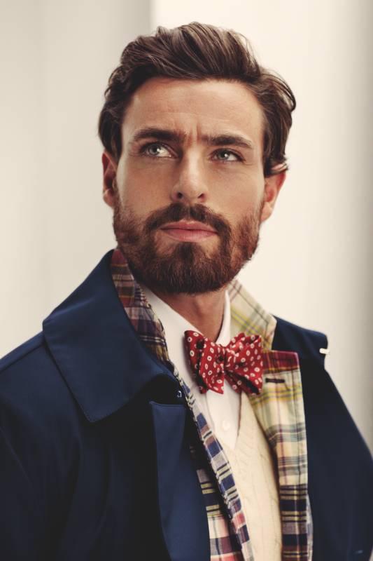Coat by Mackintosh, jacket and waistcoat by Polo Ralph Lauren, shirt by Ermenegildo Zegna, bow tie by Drake's
