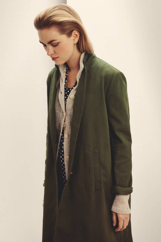 Coat and cardigan by Barena, shirt from FWK by Engineered Garments, necklace by Cartier