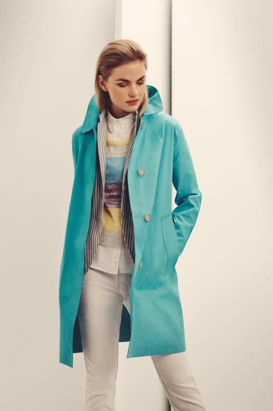 Coat by Mackintosh, jacket by Boglioli, jumper by Macphee, shirt by Maison Kitsuné, trousers by Des Prés