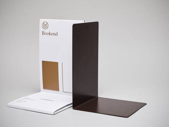 Monocle collection: Coated Steel bookend