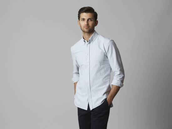 Monocle Voyage Striped Oxford Shirt
