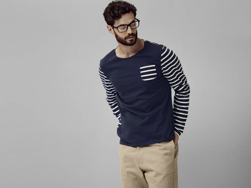 Saint James striped long-sleeve t-shirt