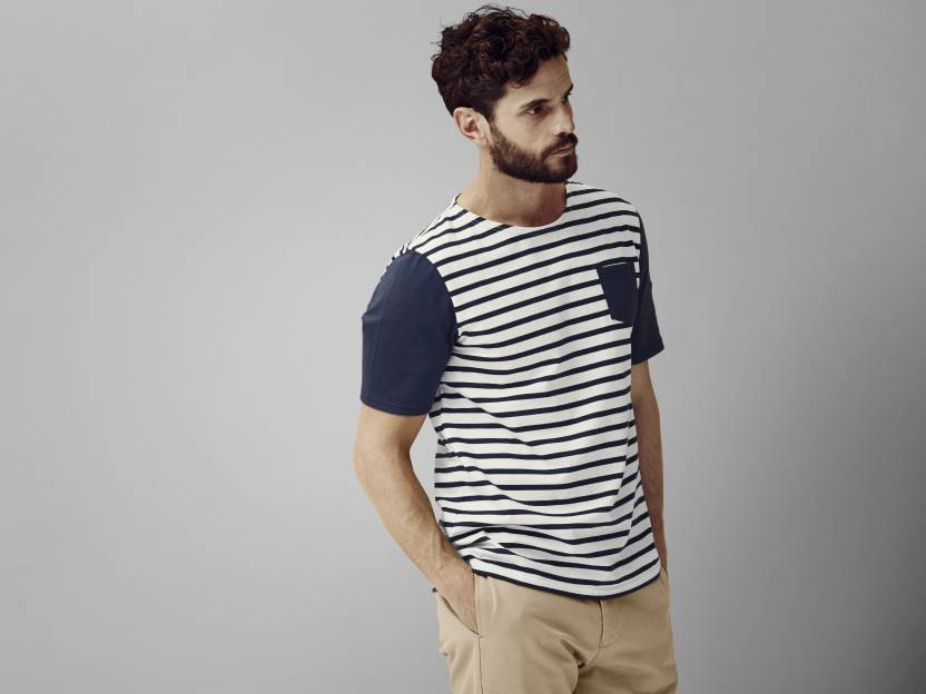 Saint James striped short-sleeve t-shirt